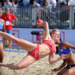 2017.07.26 Wroclaw The World Games Wrocław 2017 Pilka reczna plazowa Polska - Chinskie Tajpej N/z Paula Mazurek