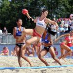 2017.07.26 Wroclaw The World Games Wrocław 2017 Pilka reczna plazowa Polska - Chinskie Tajpej N/z Sylwia Bartkowiak