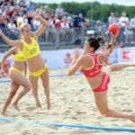 2017.07.26 Wroclaw The World Games Wrocław 2017 Pilka reczna plazowa Polska - Brazylia N/z Sylwia Bartkowiak