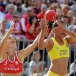 2017.07.26 Wroclaw The World Games Wrocław 2017 Pilka reczna plazowa Polska - Brazylia N/z Ewa Nowicka