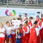 26.07.2017 The World Games Wrocław 2017 Pilka reczna plazowa Ceremonia otwarcia N/z Reprezentacja Polski