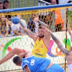 2017.07.26  The World Games Wrocław 2017 Pilka reczna plazowa Polska - Chorwacja N/z Adrian Fiodor