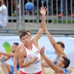 2017.07.26  The World Games Wrocław 2017 Pilka reczna plazowa Polska - Chorwacja N/z Bartosz Wojdak
