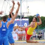 2017.07.26  The World Games Wrocław 2017 Pilka reczna plazowa Polska - Chorwacja N/z Kacper Adamski