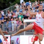 2017.07.26  The World Games Wrocław 2017 Pilka reczna plazowa Polska - Chorwacja N/z Emil Kozuchowski