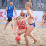 2017.07.27  The World Games Wrocław 2017 Pilka reczna plazowa Polska - Australia N/z Paula Mazurek