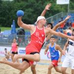 2017.07.27  The World Games Wrocław 2017 Pilka reczna plazowa Polska - Egipt N/z Sebastian Trojanowicz
