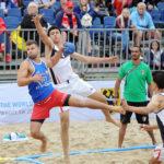 2017.07.27  The World Games Wrocław 2017 Pilka reczna plazowa Polska - Egipt N/z Maciej Wludarczak
