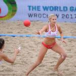 2017.07.28  The World Games Wrocław 2017 Pilka reczna plazowa Polska - Hiszpania N/z Paulina Sowa