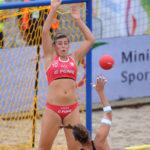 2017.07.28  The World Games Wrocław 2017 Pilka reczna plazowa Polska - Hiszpania N/z Natalia Krupa