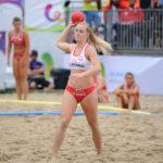 2017.07.28  The World Games Wrocław 2017 Pilka reczna plazowa Polska - Hiszpania N/z Paula Mazurek