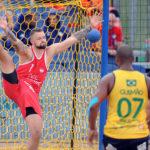 2017.07.28  The World Games Wrocław 2017 Pilka reczna plazowa Polska - Brazylia Adrian Fiodor