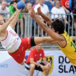 2017.07.28  The World Games Wrocław 2017 Pilka reczna plazowa Polska - Brazylia Bartosz Wojdak