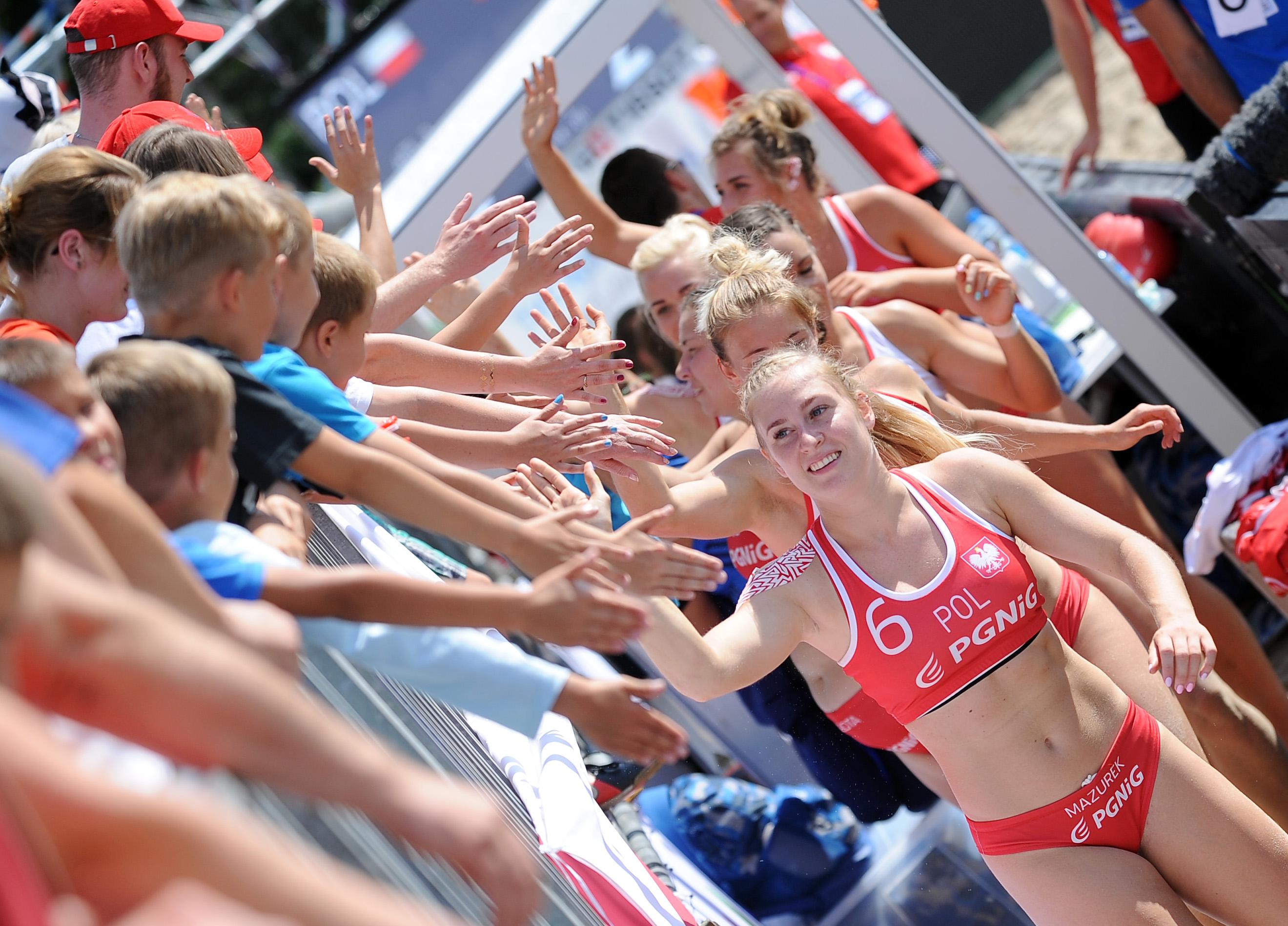 2017.07.28  The World Games Wrocław 2017 Pilka reczna plazowa Polska - Tunezja Paula Mazurek