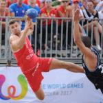 2017.07.28  The World Games Wrocław 2017 Pilka reczna plazowa Polska - Urugwaj Maciej Wludarczak