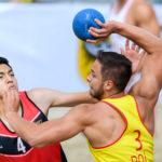 2017.07.29 The World Games Wrocław 2017 Pilka reczna plazowa Polska - Egipt ADAMSKI Kacper