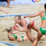 2017.07.29 The World Games Wrocław 2017 Pilka reczna plazowa Polska - Australia MAZUREK Paula