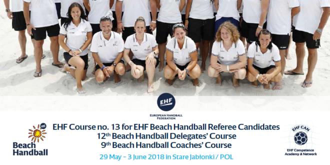 EHF zaprasza trenerów, sędziów i delegatów na kurs piłki ręcznej plażowej w Starych Jabłonkach