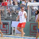 2017.07.26 Wroclaw The World Games Wrocław 2017 Pilka reczna plazowa Polska - Wegry N/z Krzysztof Kisiel