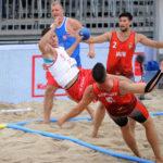 2017.07.26 Wroclaw The World Games Wrocław 2017 Pilka reczna plazowa Polska - Wegry N/z Bartosz Wojdak
