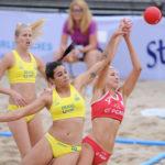 2017.07.26 Wroclaw The World Games Wrocław 2017 Pilka reczna plazowa Polska - Brazylia N/z Paulina Sowa