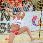 2017.07.26 Wroclaw The World Games Wrocław 2017 Pilka reczna plazowa Polska - Brazylia N/z Natalia Krupa