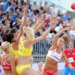 2017.07.26 Wroclaw The World Games Wrocław 2017 Pilka reczna plazowa Polska - Brazylia N/z Lidia Zakowska