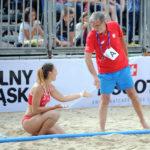 2017.07.26 Wroclaw The World Games Wrocław 2017 Pilka reczna plazowa Polska - Brazylia N/z Ewa Nowicka Marek Karpinski