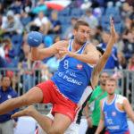 2017.07.27  The World Games Wrocław 2017 Pilka reczna plazowa Polska - Egipt N/z Emil Kozuchowski