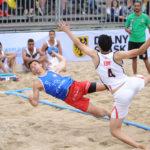 2017.07.27  The World Games Wrocław 2017 Pilka reczna plazowa Polska - Egipt N/z Bartosz Wojdak