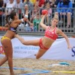 2017.07.28  The World Games Wrocław 2017 Pilka reczna plazowa Polska - Hiszpania N/z Alicia Slezak