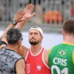 2017.07.28  The World Games Wrocław 2017 Pilka reczna plazowa Polska - Brazylia N/z Lukasz Zakreta
