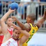 2017.07.28  The World Games Wrocław 2017 Pilka reczna plazowa Polska - Brazylia N/z Emil Kozuchowski