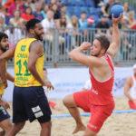 2017.07.28  The World Games Wrocław 2017 Pilka reczna plazowa Polska - Brazylia N/z Kacper Adamski