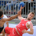 2017.07.28  The World Games Wrocław 2017 Pilka reczna plazowa Polska - Urugwaj Milosz Rupp