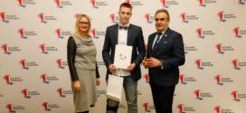 Kacper Ligarzewski z nagrodą Marszałka województwa Kujawsko-Pomorskiego