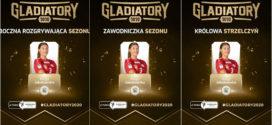 Kinga Jakubowska z 3 statuetkami Gladiatorów 2020