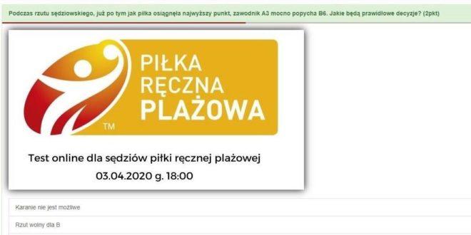 Polscy sędziowie plażówki szkolą się online
