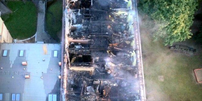 Potrzebna pomoc po pożarze szkoły w Lublińcu