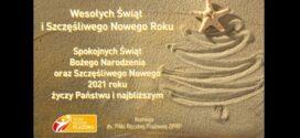 Plażowe życzenia na Święta Bożego Narodzenia i Nowy 2021 rok.