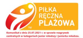 Komunikat z dnia 25.07.2021 r. w sprawie eliminacji w kategoriach junior i juniorka młodsza.